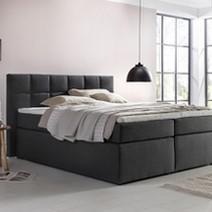 boxspringbett bea mit visco topper. Black Bedroom Furniture Sets. Home Design Ideas
