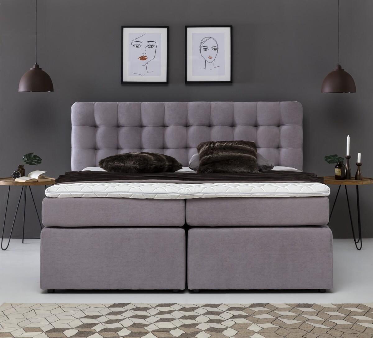 premium boxspringbett perris mit visco topper. Black Bedroom Furniture Sets. Home Design Ideas