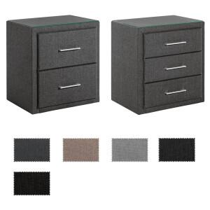 nachttische f r boxspringbetten polsterbetten. Black Bedroom Furniture Sets. Home Design Ideas
