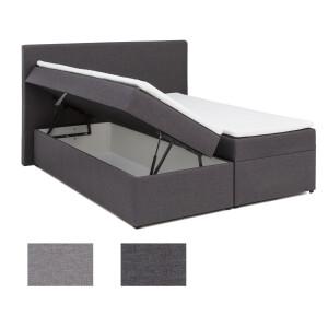 Nachttisch Mit 2 Fächern Und Glasablage