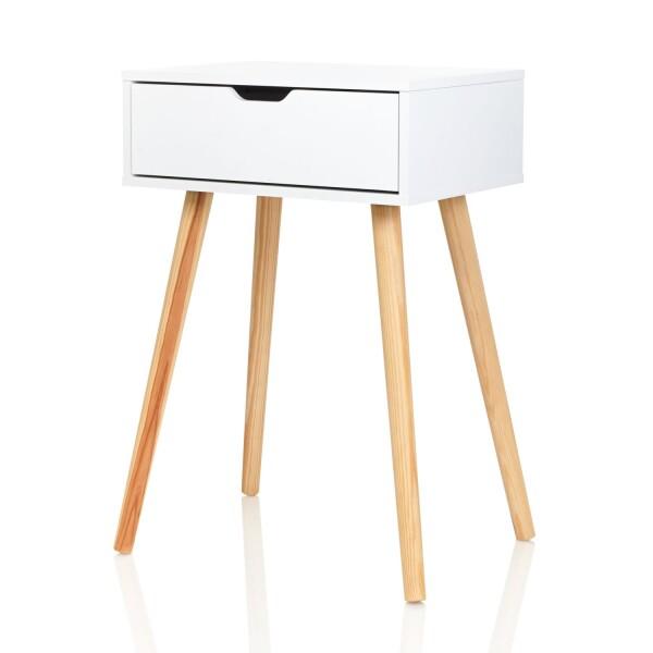 Nachttisch Tjark weiß - Skandinavisches Design